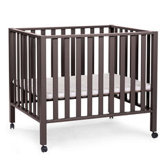 Parc bébé avec roues 75 x 95 cm - Warm grey