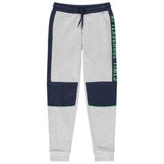 Junior - Pantalon de jogging en molleton avec inscriptions printées