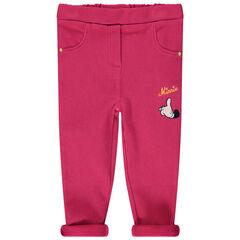 Legging rose broderie Minnie Disney