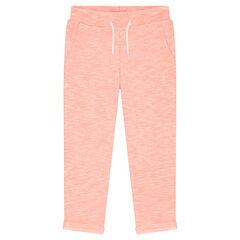 Pantalon de jogging en molleton avec taille élastiquée