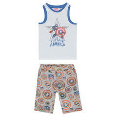 Pyjama en jersey Marvel print Captain America