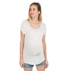 Tee-shirt manches courtes de grossesse avec print fantaisie