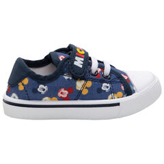Baskets basses en toile imprimées Mickey Disney all-over