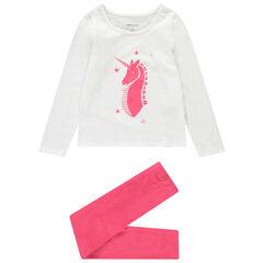 Pyjama en jersey avec licorne printée