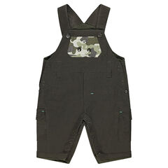Salopette doublée jersey avec poche motif army ©Smiley