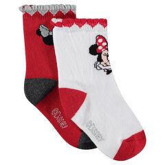 Lot de 2 paires de chaussettes avec motif jacquard Disney Minnie