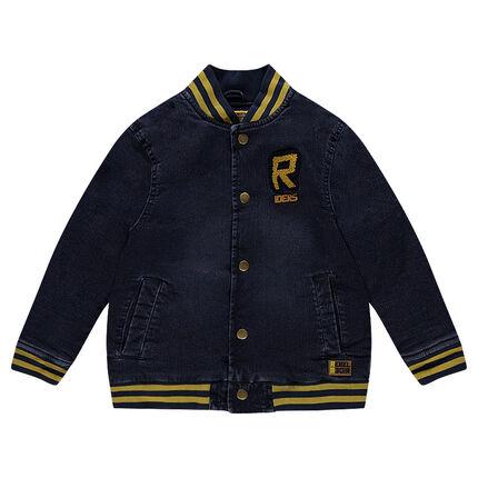 Junior - Veste en jeans effet used