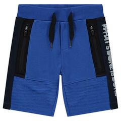 Bermuda en molleton avec poches zippées