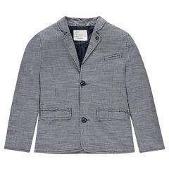 Junior - Blazer en coton flammé doublé nylon