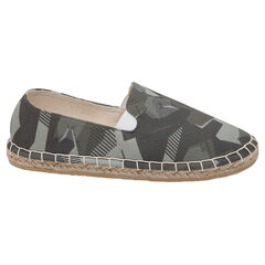 Espadrilles en toile motif army all-over