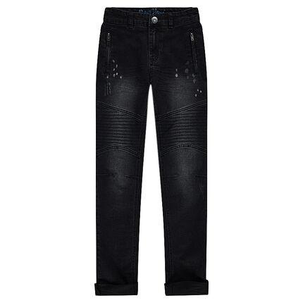 Junior - Jeans coupe slim effet used