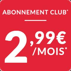 Abonnement 2,99€ / mois