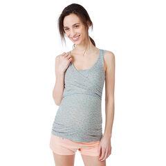 Débardeur de grossesse et d'allaitement homewear imprimé all-over