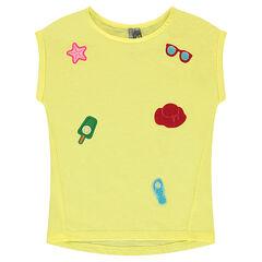 Tee-shirt manches courtes en jersey avec badges patchés