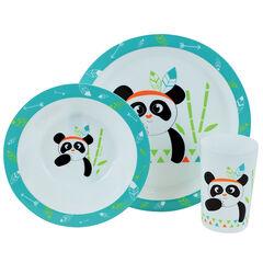 Set repas India Panda - 3 pièces