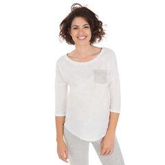Tee-shirt de grossesse manches 3/4 avec poche