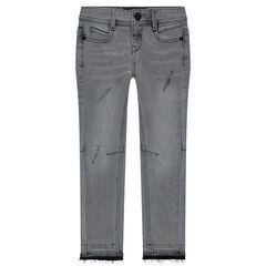 Junior - Jeans skinny effet used