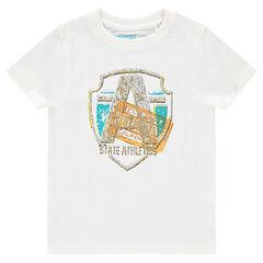 Tee-shirt manches courtes avec print fantaisie