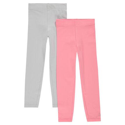 Junior - Lot de 2 leggings longs unis