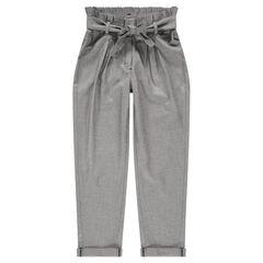 Junior - Pantalon en maille fantaisie taille carotte