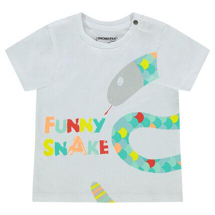 Tee-shirt manches courtes avec animal printé