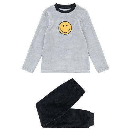 Pyjama en polaire bicolore avec ©Smiley patché