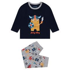 Pyjama en jersey avec vikings printés