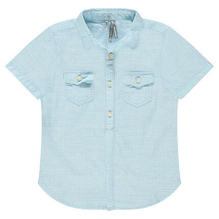 Junior - Chemise manches courtes en armure fantaisie