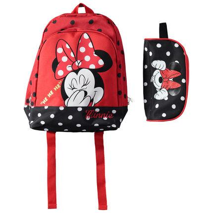 Sac à dos Minnie à pois avec trousse assortie Disney