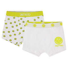 Junior - Lot de 2 boxers en coton print ©Smiley