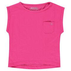 Tee-shirt manches courtes avec poche plaquée