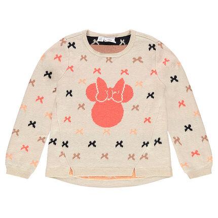 Pull en tricot imprimé noeuds et print Disney Minnie