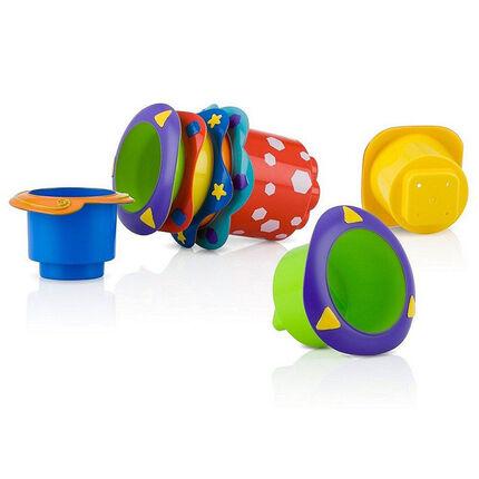 Jouet de bain 1er age Stacking cups