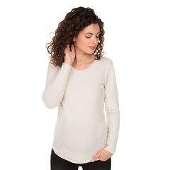 Pull de grossesse uni en tricot doux