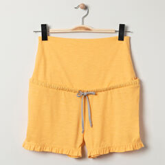 Short homewear de grossesse jaune  , Prémaman