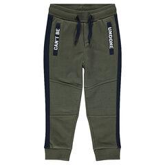 46ea752e78 Pantalon de jogging en molleton avec découpes et poches printées