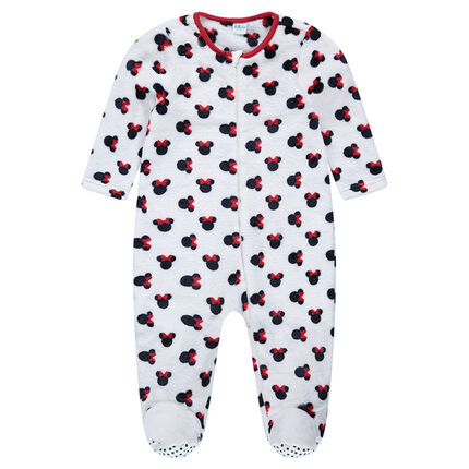 surpyjama en velours disney minnie du 12 mois au 5 ans orchestra fr. Black Bedroom Furniture Sets. Home Design Ideas