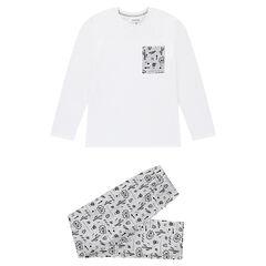 Junior - Pyjama en jersey avec imprimé cactus