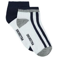 Lot de 2 paires de chaussettes basses assorties
