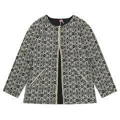 Veste en coton avec motif fantaisie all-over