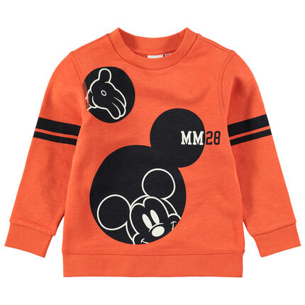 Sweat en molleton orange print Mickey Disney