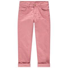 Pantalon en twill doublé polaire
