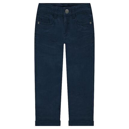Junior - Pantalon effet crinkle avec poche à inscription reliéfée