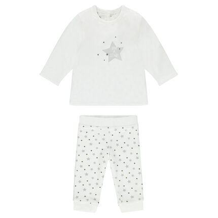 Ensemble naissance réversible tee-shirt et pantalon