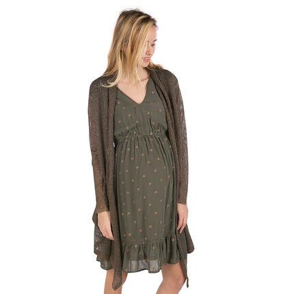 Gilet de grossesse en tricot avec fil cuivré