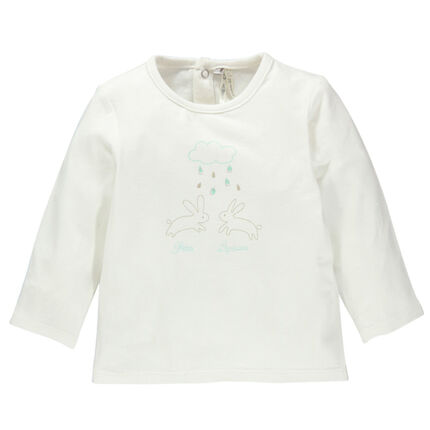 Tee-shirt manches longues avec lapins printés