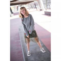 Junior - Pull en tricot avec badges ©Smiley