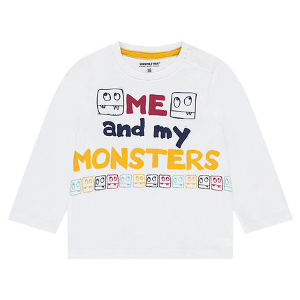 Tee-shirt manches longues en jersey avec motif fantaisie printé