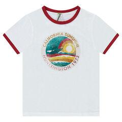 Junior - Tee-shirt manches courtes avec print effet used