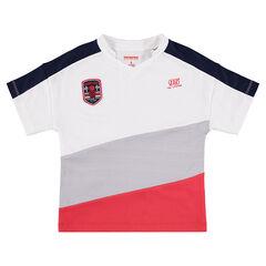 Tee-shirt manches courtes avec larges bandes contrastées